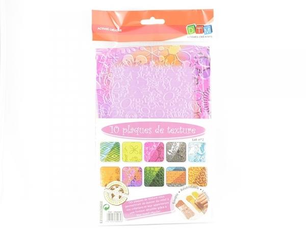 Acheter 10 plaques de texture n°2 - 13,90€ en ligne sur La Petite Epicerie - 100% Loisirs créatifs