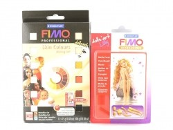 12 Fimo Doll Art blocks incl. mould for the creation of a doll