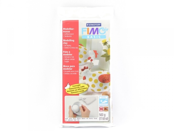 Pâte Fimo Air Basic Blanc 500g Fimo - 1