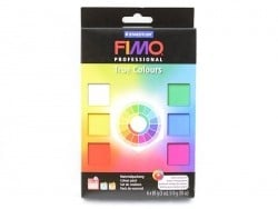 6 pains de Fimo couleurs vives