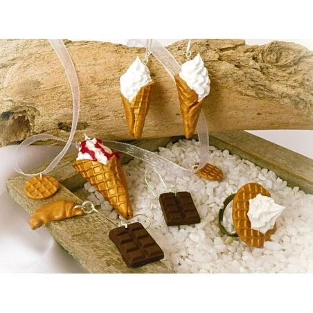 Miniature food jewellery kit (including Fimo)