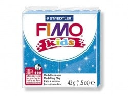 Pâte Fimo bleu pailleté 312 Kids