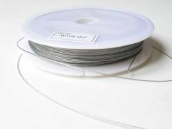40 m dunkelsilberfarbene Drahtschnur - 0, 5 mm