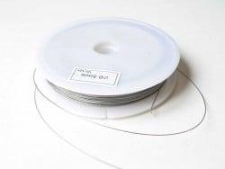 40 m de fil cablé 0,5mm argent foncé