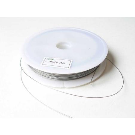 Acheter 40 m de fil cablé 0,5mm argent foncé - 9,99€ en ligne sur La Petite Epicerie - Loisirs créatifs