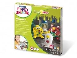 Kit de modelage et jeux - monstre - fimo kids Fimo - 1