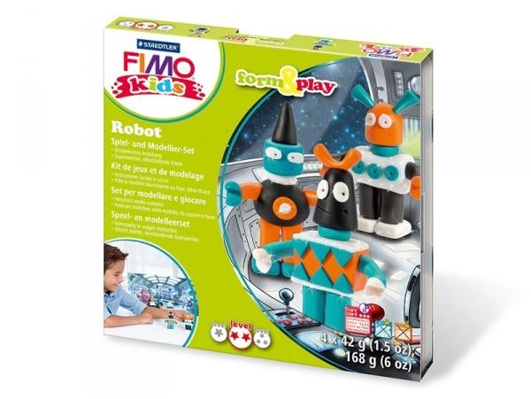 Kit de modelage et jeux - robots Fimo - 1