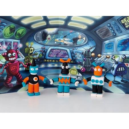 Kit de modelage et jeux - robots Fimo - 2
