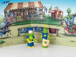 Kit de modelage et jeux - chevaliers