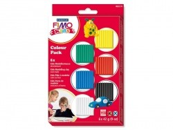 6 Fimo Kids blocks - Primary colours