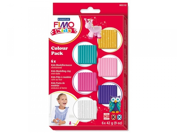 6 fimo kids - couleurs girly Fimo - 1