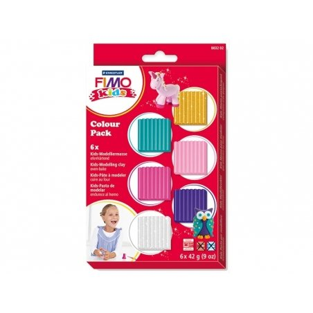 Acheter 6 fimo kids - couleurs girly - 10,80€ en ligne sur La Petite Epicerie - 100% Loisirs créatifs