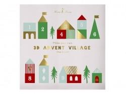 Calendrier de l'avent village 3D