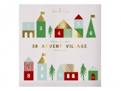 Dreidimensionaler Adventskalender - Dorf
