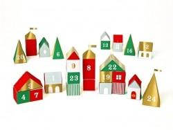 3-D village advent calendar