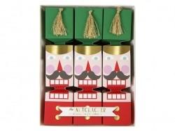 6 grands crackers écriture à paillettes