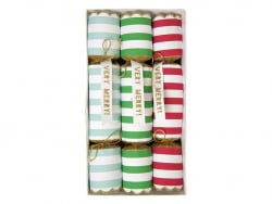 6 small striped crackers