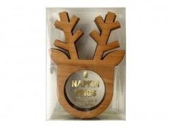 8 napkin rings - reindeer