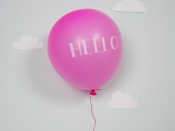 Carte Ballon - HELLO