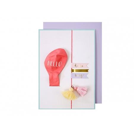 Card with a balloon - Hello