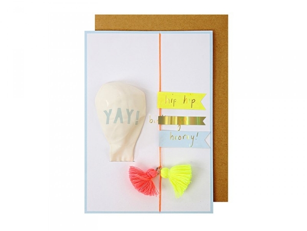 Card with a balloon - Yay