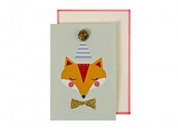 Birthday card - Fox badge