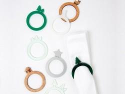 8 anneaux à serviettes - forêt