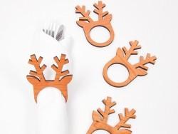 8 anneaux à serviettes - renne
