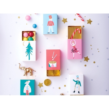 6 boîtes cadeaux en forme de boîtes d'allumettes Meri Meri - 2