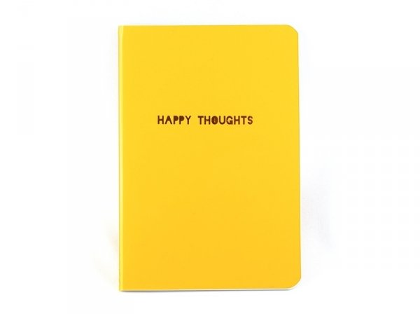 "Carnet fluo orange ""Happy Thoughts"" Meri Meri - 1"