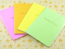 "Carnet fluo orange ""Happy Thoughts"""