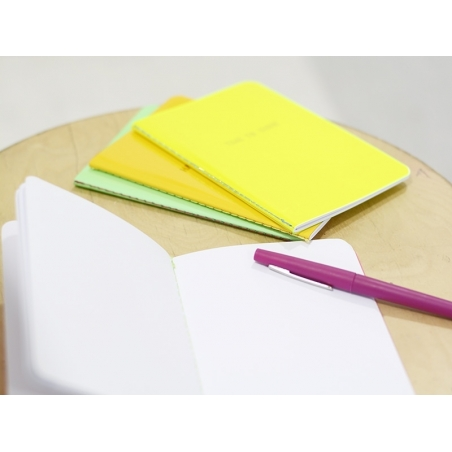 "Neon orange notebook - ""Happy thoughts"""