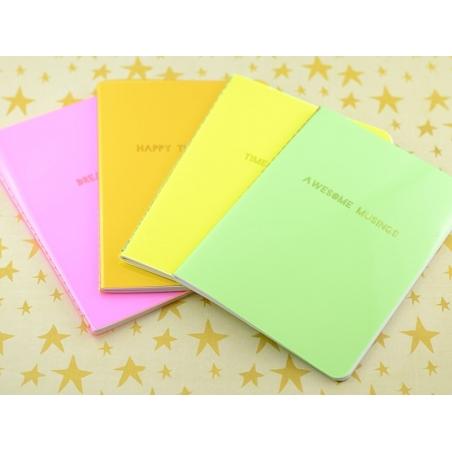 "Neon pink notebook - ""Dream big"""