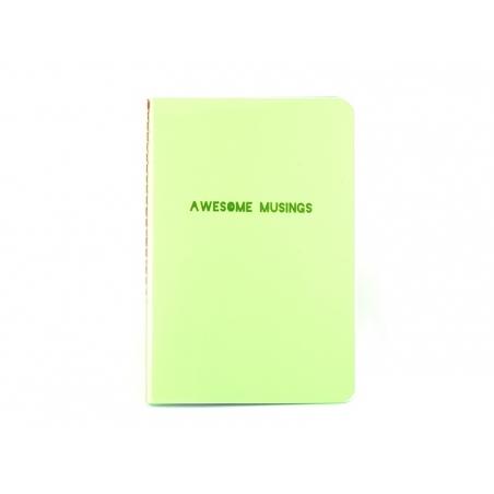 "Carnet fluo vert ""Awesome Musings"""
