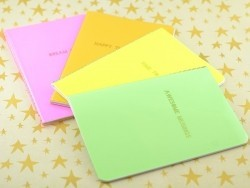 "Carnet fluo vert ""Awesome Musings"""