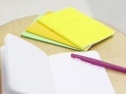 "Carnet fluo jaune ""Time to Shine"""