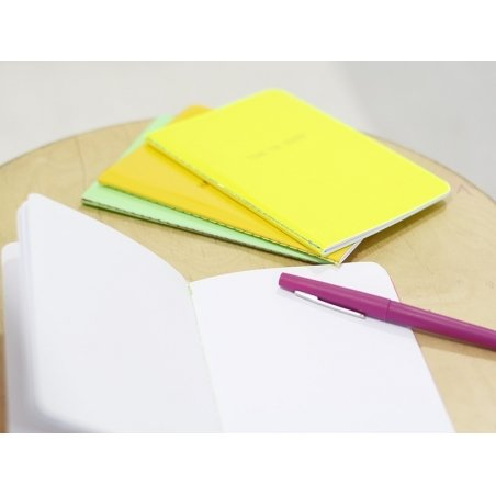 """Neon yellow notebook - """"Time to shine"""""""
