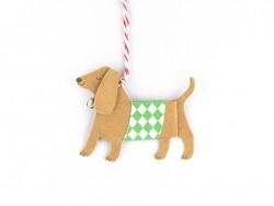 Etiquette de Noël - chien