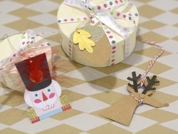 Etiquette de Noël - Noël paillettes et grelot
