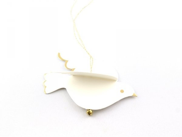 Etiquette de Noël - colombe 3D