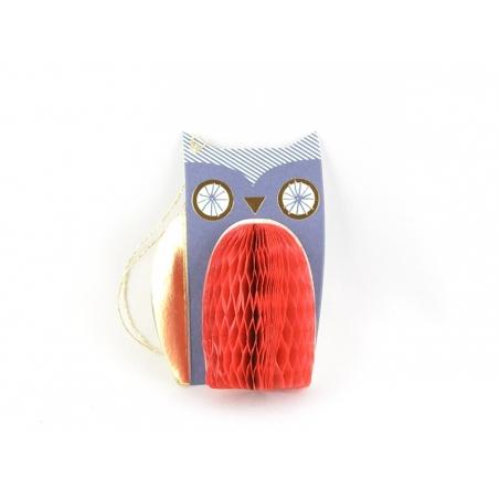 Etiquette de Noël - Hibou 3D Meri Meri - 1