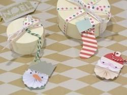 Etiquette de Noël - Hibou 3D