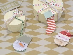 Etiquette de Noël - Hibou 3D Meri Meri - 2