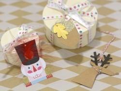 Etiquette de Noël - Rond pailleté
