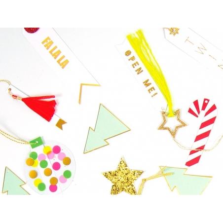 6 étiquettes cadeaux - pompons gland en papier Meri Meri - 2