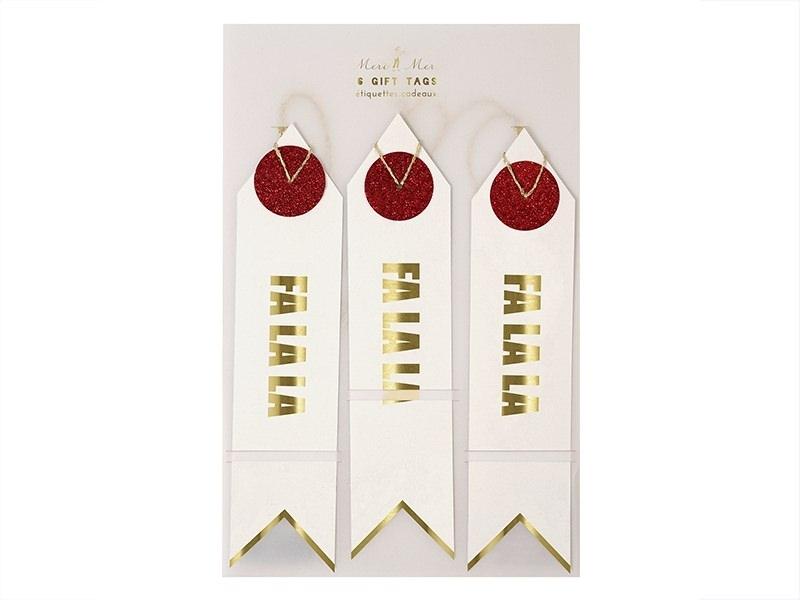 6 étiquettes cadeaux - Fa La La Meri Meri - 1