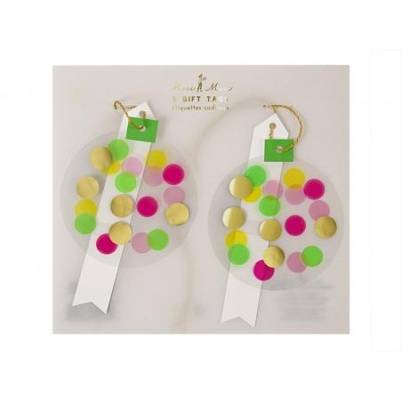 6 gift tags - Confetti