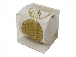 Roll of 50 gold-coloured glitter stickers