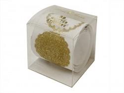 Rouleau de 50 stickers à paillettes dorées