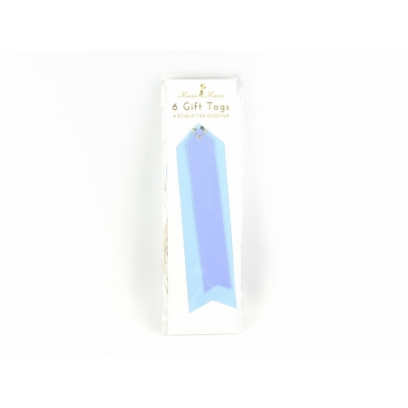 6 étiquettes cadeaux - vinyle bleu Meri Meri - 1